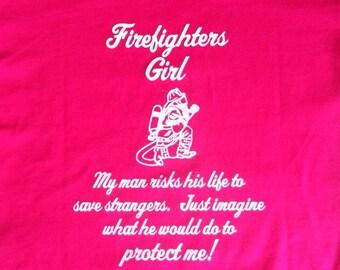 Firefighters Girl  Tshirt w/Maltese Cross
