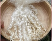 Wensleydale wool locks, EXCELLENT QUALITY, ready to use, Natural White, Dolls hair, Blythe dolls, Spinning, Felting, Crafts, Carding
