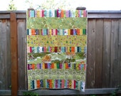 Scrappy quilt for kid's bed or throw