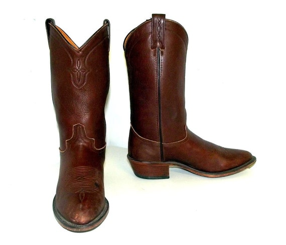 brown abilene cowboy boots size 8 5 d or by honeyblossomstudio