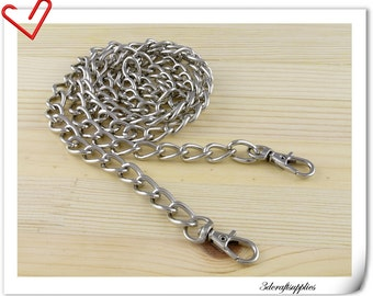 108cm (42.5 inch )  heavy duty nickel metal purse chain shoulder chain metal chain Z29