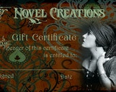 65.00 Gift Certificate for Items in THIS Shop with FREE US Shipping