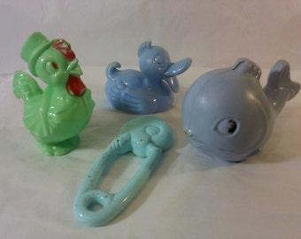 FREE SHIPPING Baby Rattles Toys Knickerbocker vintage (Vault 17)