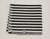 Black and White Striped Bamboo Cocoon Swaddler