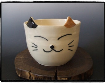 Calico Cat Bowl by misunrie