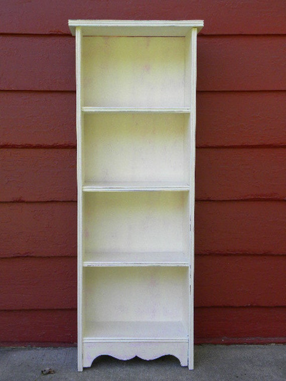 Vintage Painted Bookcase Annie Sloan Chalk Paint Old White