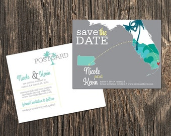Miami Florida - Save the Date - Destination Wedding