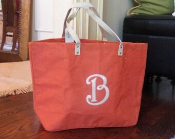 Monogrammed Jute Tote Bags