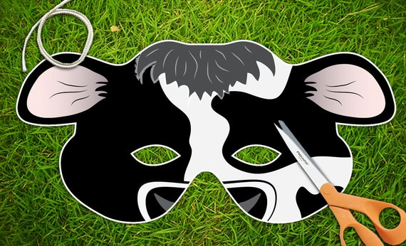 Satisfactory image in cow mask printable pdf