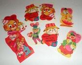 Vintage Valentines - Clowns Scarecrows Valentines - Vintage School Valentines - Valentines Day Cards - Unused Valentines - Set No 3