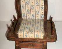Wood Rocking Chair Sewing Caddy - Pin Cushion - Thread Holder - Sewing Notions Caddy - Rocking Chair Sewing Caddy - Vintage Sewing Caddy