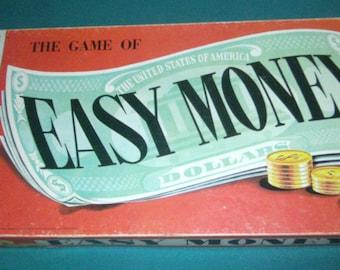 Vintage Board Game - Easy Money Game - 1956 Board Game - Milton Bradley 4620 - Family Game - 1950s Board Game