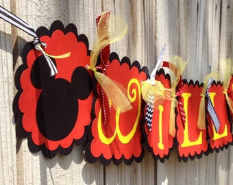 Whimizical Name Banner- Mickey Mouse