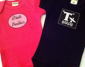 Pink Ladies and T Birds Twin SetBaby Clothes/Baby Boys' Bodysuit/Baby Girls' Bodysuit/Baby Shower Gift/Toddler tee shirt/