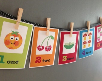 Kids Wall Art- Numbers Set