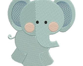 Elephant Zoo Jungle Machine Embroidery Designs 4x4 & 5x7 Instant Download Sale