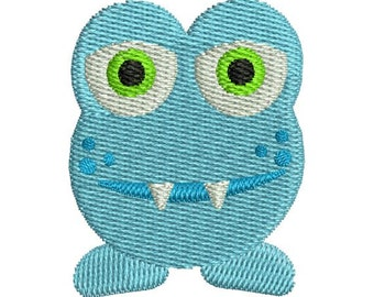 Cute Mini Little Monster II Filled Machine Embroidery Design Instant Download