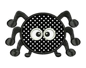 Applique Spider Cute Halloween Machine Embroidery Designs 4x4 & 5x7 Instant Download Sale