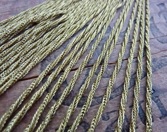 Chain Rope Chain Brass Rope Chain Vintage 15 Inch Necklace Brass Rope Chain Raw Brass