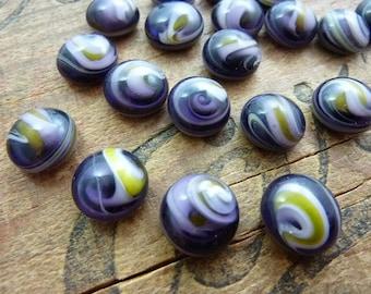 Vintage Cabochon Purple Swirl 12mm Glass Cabochon (4)