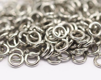 6mm Jump Ring - 200 Silver Brass Jump Rings Nickel Free  (6x1.2mm) B0067