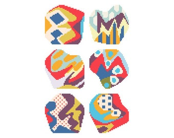 PDF/needlepoint coaster set No.05