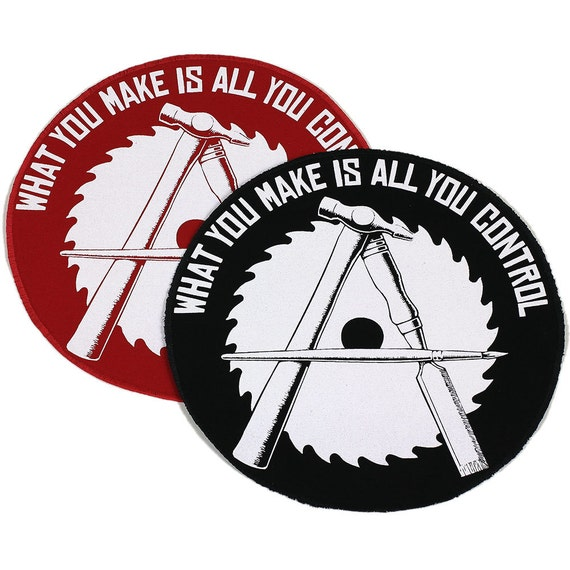 JUMBO Anarcho-Crafter Iron On Patch 9 inches