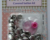 Button Covering Kit / Cover Button Kit / Set To Make Fabric Covered Buttons - Makes 24 Buttons 15mm Diameter