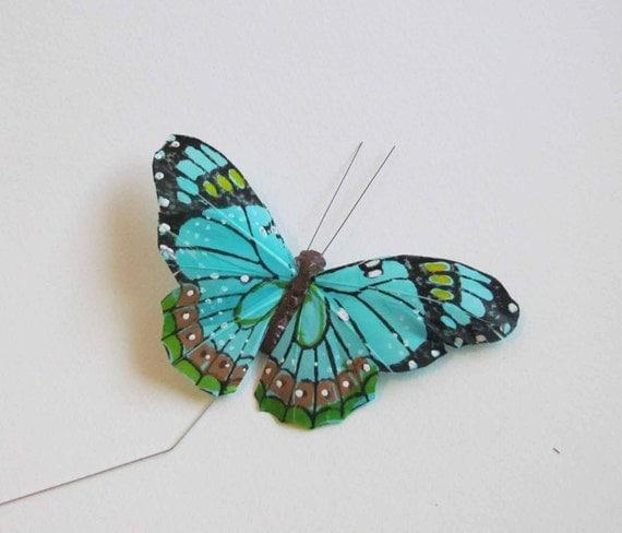 Teal Blue Butterfly Hair Clip for Meg