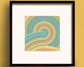 Zen Earth No.3 - Square Giclee Print