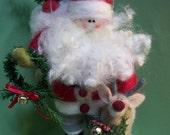 Wool Santa and Reindeer