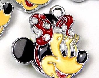 5 Enamel Disney Minnie  Mouse Pendant Charm (e6966)