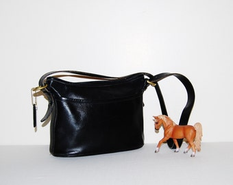 Vintage Coach Black Purse Saddle Leather Timeless