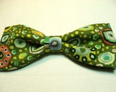 Green Circles Dots Spring Summer New Bow Tie Men Adjustable Pretied Handcrafted Bowtie Gustys