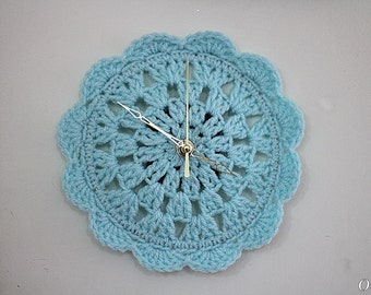 Crochet Pattern small clock for your House home decor clock Crochet Pattern  Instant Download