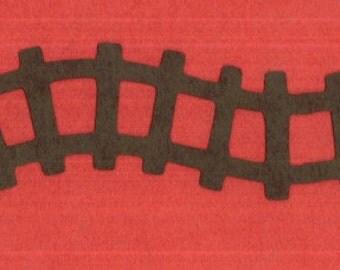 TRAIN TRACK Die Cut Borders Railroad | Scrapbooking | Paper Piecing | Party