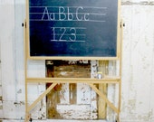 Back to School - Vintage Chalkboard Blackboard Wooden Stand - Wheels local pick up only