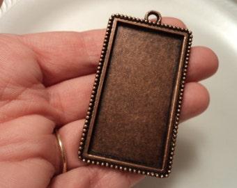 Copper Frame Pendant