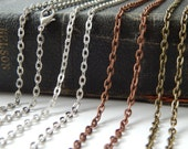 100 Rolo Style Link Chains 30 Inches Long with Lobster Clasp 3mm