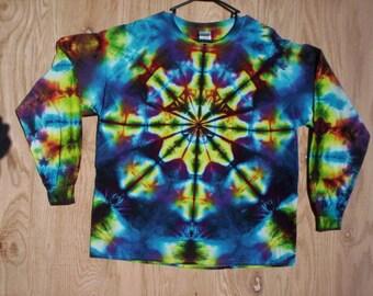 Childrens-Kaleidoscope Tie Dye Long Sleeve Size Youth Medium