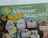 Message Magnets, Cross Stitch Patterns, Vinyl Weave, Ann Townsend, Needlework Patterns, Unique Designs, Refrigerator Magnets, Gift Ideas