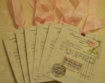Shabby French Vintage All Occasion Tags - Set of 6