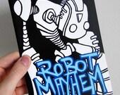 Robot Mayhem - Mini Coloring Book