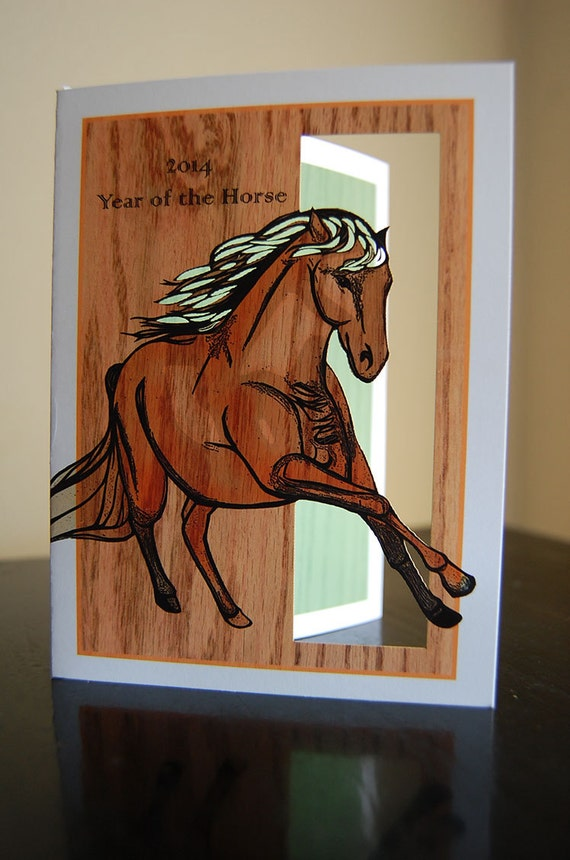 Year of the Horse 2014 (papercut card)