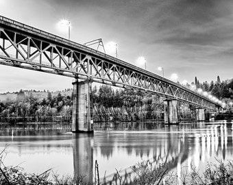 Gustav's Borrowed Girders - Sellwood Bridge - 4x6 Fine Art Photograph