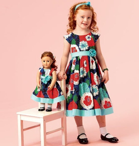 We handpicked this because nothing says best friends like matching outfits! These dresses are made from super comfy cotton to provide a great fit for your little girl. With adorable designs for her and her favorite American Girl, or any other adorable doll!