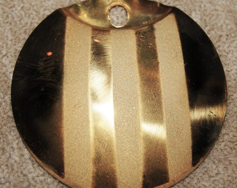 Vintage 4 Huge Brass Art Deco Fancy Pendant 57mm Stamping N5R