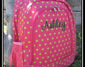Personalized Peachy Dots Backpack