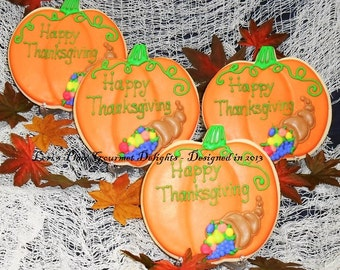 Thanksgiving Place Setting Cookies - 5.00 each