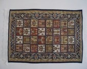 "Medieval Carpet , Heraldic crests, 4.5"" X 7"", twelfth scale, dollhouse miniature"